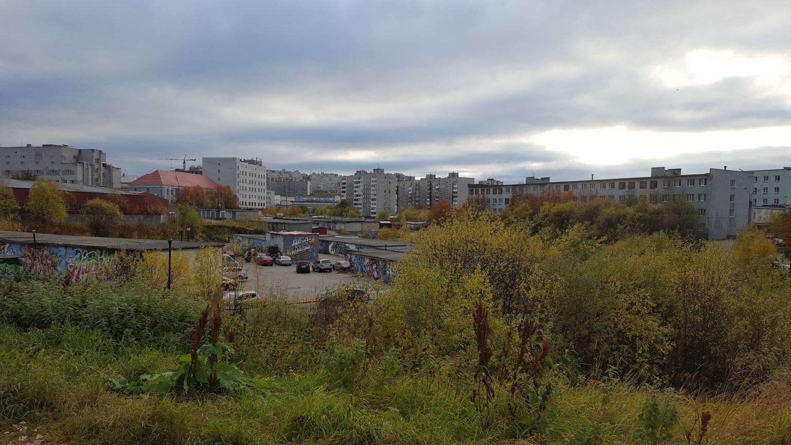 Ausblick auf der Suche nach dem Neuen Murmansker Friedhof. - Foto: Lena Seglitz-Baierl