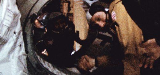 """Handshake in space"""