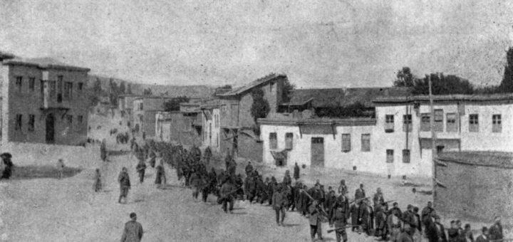 Deportation der Armenier aus Mezire. Bildquelle: Dänisches Nationalarchiv, Kopenhagen, KMA, Sammlung Nachlass Maria Jacobsen